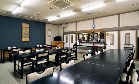 写真:会食場